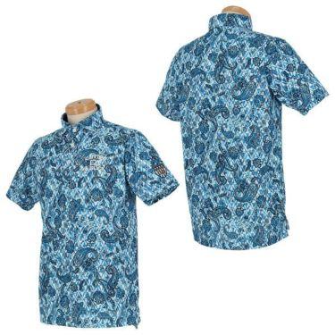 カッター&バック CUTTER&BUCK メンズ 鹿の子 ペイズリー柄 半袖 ホリゾンタルカラー ポロシャツ CGMPJA28 2020年モデル 詳細3