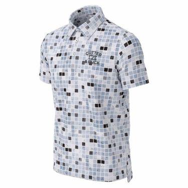 カッター&バック CUTTER&BUCK メンズ ロゴ刺繍 ブロック柄 半袖 ボタンダウン ポロシャツ CGMPJA36 2020年モデル ブラック(BK00)