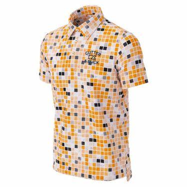 カッター&バック CUTTER&BUCK メンズ ロゴ刺繍 ブロック柄 半袖 ボタンダウン ポロシャツ CGMPJA36 2020年モデル オレンジ(OR00)