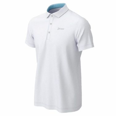 【ss特価】△スリクソン SRIXON メンズ ロゴ刺繍 ニットサッカー生地 半袖 ポロシャツ RGMPJA21 2020年モデル ホワイト(WH00)