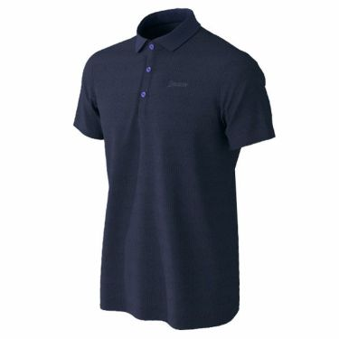 【ss特価】△スリクソン SRIXON メンズ ロゴ刺繍 ニットサッカー生地 半袖 ポロシャツ RGMPJA21 2020年モデル ネイビー(NV00)