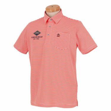 【ss特価】△マンシングウェア Munsingwear メンズ ボーダー柄 ロゴ刺繍 半袖 ポロシャツ MGMPJA13 2020年モデル オレンジ(OR00)