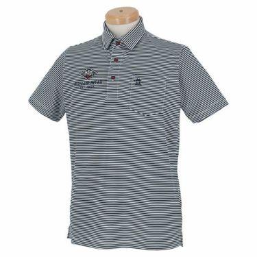 【ss特価】△マンシングウェア Munsingwear メンズ ボーダー柄 ロゴ刺繍 半袖 ポロシャツ MGMPJA13 2020年モデル ネイビー(NV00)