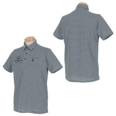 【ss特価】△マンシングウェア Munsingwear メンズ ボーダー柄 ロゴ刺繍 半袖 ポロシャツ MGMPJA13 2020年モデル 詳細3