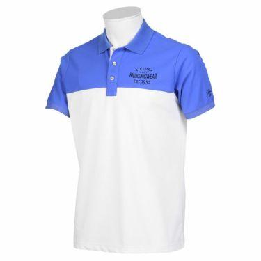 【ss特価】△マンシングウェア Munsingwear メンズ バイカラー 半袖 ポロシャツ MGMPJA14 2020年モデル ホワイト/ブルー(WHBL)