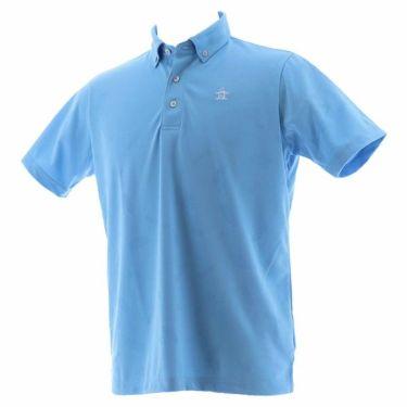 【ss特価】△マンシングウェア Munsingwear メンズ ジャガード総柄 半袖 ボタンダウン ポロシャツ MGMPJA34 2020年モデル サックス(SA00)