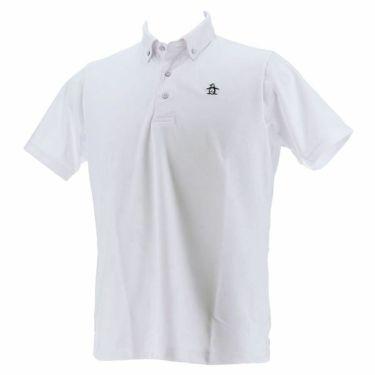 【ss特価】△マンシングウェア Munsingwear メンズ ジャガード総柄 半袖 ボタンダウン ポロシャツ MGMPJA34 2020年モデル ホワイト(WH00)