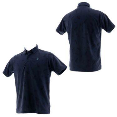 【ss特価】△マンシングウェア Munsingwear メンズ ジャガード総柄 半袖 ボタンダウン ポロシャツ MGMPJA34 2020年モデル 詳細3