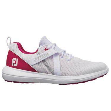 フットジョイ フレックス レディース スパイクレス ゴルフシューズ 95726 ホワイト+ピンク