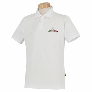 オロビアンコ Orobianco メンズ ロゴ刺繍 半袖 ポロシャツ 43575-163 2020年モデル ホワイト(01)