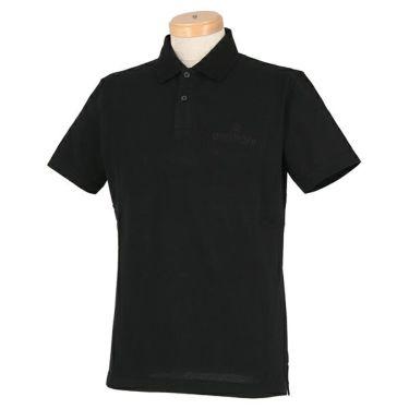 オロビアンコ Orobianco メンズ ロゴ刺繍 半袖 ポロシャツ 43575-163 2020年モデル ブラック×ブラックロゴ(99)