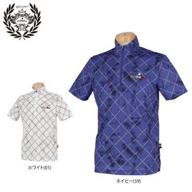 オロビアンコ Orobianco メンズ 総柄 半袖 ハイネック ハーフジップシャツ 45570-153 2020年モデル 詳細1