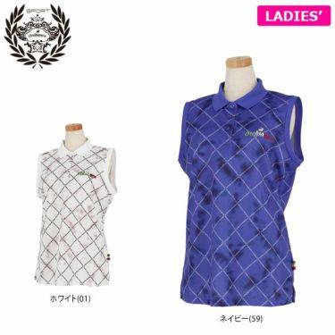 オロビアンコ Orobianco レディース 総柄 ノースリーブ ポロシャツ 46575-253 2020年モデル 詳細1