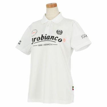 オロビアンコ Orobianco レディース ロゴプリント 半袖 ポロシャツ 46575-254 2020年モデル ホワイト(01)
