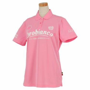 オロビアンコ Orobianco レディース ロゴプリント 半袖 ポロシャツ 46575-254 2020年モデル ピンク(75)