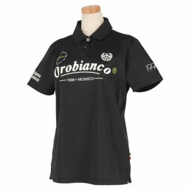 オロビアンコ Orobianco レディース ロゴプリント 半袖 ポロシャツ 46575-254 2020年モデル ブラック(99)