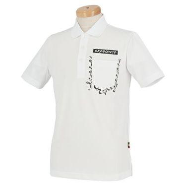 オロビアンコ Orobianco メンズ ロゴプリント 半袖 ポロシャツ 45575-155 2020年モデル ホワイト(01)