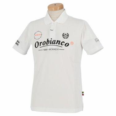 オロビアンコ Orobianco メンズ ロゴモチーフプリント 半袖 ポロシャツ 45575-157 2020年モデル ホワイト(01)