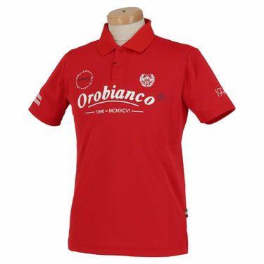 オロビアンコ Orobianco メンズ ロゴモチーフプリント 半袖 ポロシャツ 45575-157 2020年モデル レッド(80)