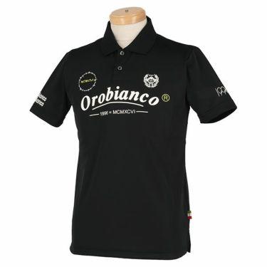 オロビアンコ Orobianco メンズ ロゴモチーフプリント 半袖 ポロシャツ 45575-157 2020年モデル ブラック(99)