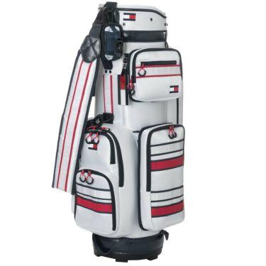 トミー ヒルフィガー ゴルフ ストライプ キャディバッグ THMG0SC5 00 ホワイト 2020年モデル