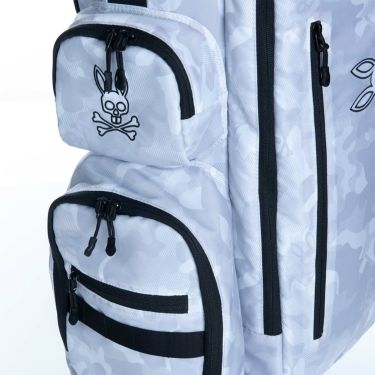 サイコバニー PsychoBunny 軽量 スポーツ CAMO TWILL スタンド キャディバッグ PBMG0SC6 00 ホワイト 2020年モデル 商品詳細8
