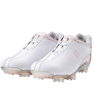 フットジョイ FootJoy ドライジョイズ ボア レディース ソフトスパイク ゴルフシューズ 99074 ホワイト+ピンク 2020年モデル ホワイト+ピンク(99074)