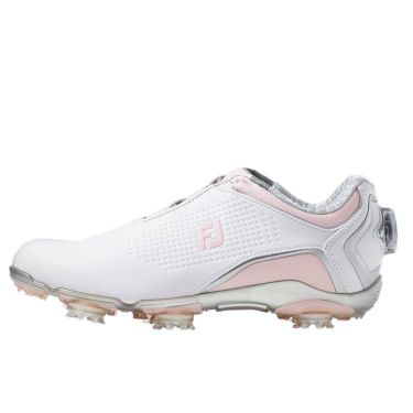 フットジョイ FootJoy ドライジョイズ ボア レディース ソフトスパイク ゴルフシューズ 99074 ホワイト+ピンク 2020年モデル 詳細1