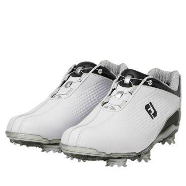 フットジョイ FootJoy ドライジョイズ ボア レディース ソフトスパイク ゴルフシューズ 99075 ホワイト+ブラック 2020年モデル ホワイト+ブラック(99075)