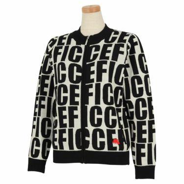 フィッチェゴルフ FICCE GOLF レディース ロゴグラフィック柄 長袖 フルジップ セーター 282800 オフホワイト(05)