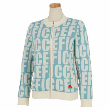 フィッチェゴルフ FICCE GOLF レディース ロゴグラフィック柄 長袖 フルジップ セーター 282800 ブルー(85)