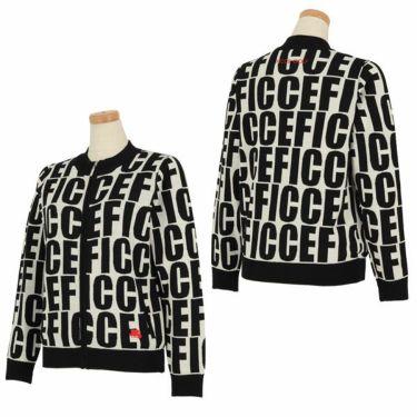 フィッチェゴルフ FICCE GOLF レディース ロゴグラフィック柄 長袖 フルジップ セーター 282800 詳細3