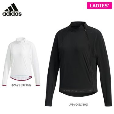 アディダス adidas レディース ストレッチ アシンメトリーファスナー 長袖 ジャケット GHV29 2019年モデル 詳細1