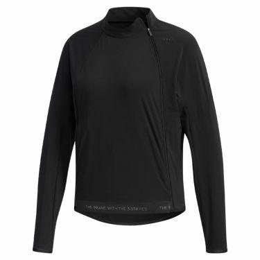 アディダス adidas レディース ストレッチ アシンメトリーファスナー 長袖 ジャケット GHV29 2019年モデル ブラック(EJ7392)