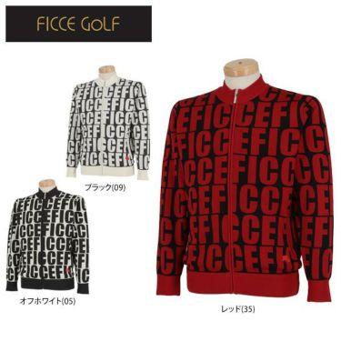 フィッチェゴルフ FICCE GOLF メンズ タイポグラフィ柄 長袖 フルジップ セーター 281600 詳細1