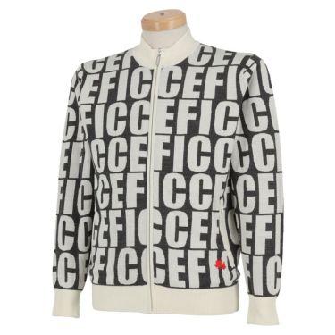 フィッチェゴルフ FICCE GOLF メンズ タイポグラフィ柄 長袖 フルジップ セーター 281600 ブラック(09)