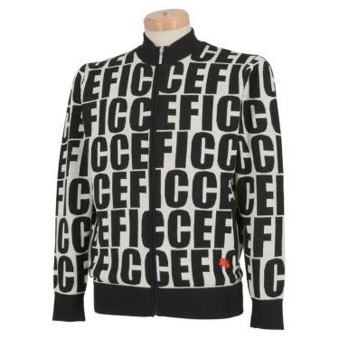 フィッチェゴルフ FICCE GOLF メンズ タイポグラフィ柄 長袖 フルジップ セーター 281600 オフホワイト(05)