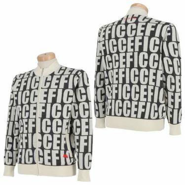 フィッチェゴルフ FICCE GOLF メンズ タイポグラフィ柄 長袖 フルジップ セーター 281600 詳細4