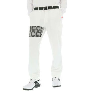 フィッチェゴルフ FICCE GOLF メンズ ニット 編地柄 ストレッチ ロングパンツ 281700 オフホワイト(05)
