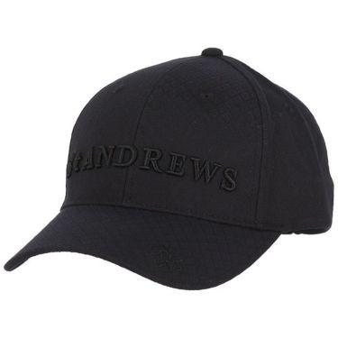 セントアンドリュース St ANDREWS ユニセックス 立体ロゴ刺繍入り ダイヤジャガード キャップ 042-9287853 010 ブラック 2019年モデル