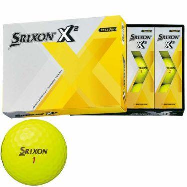 オウンネーム専用 スリクソン SRIXON X2 エックスツー ゴルフボール 1ダース(12球入り) 2020年モデル イエロー