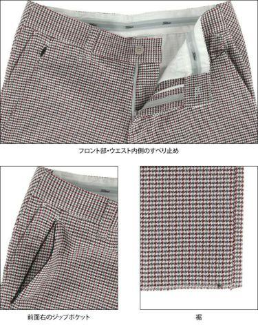 タイトリスト Titleist メンズ ガンクラブチェック ストレッチ ロングパンツ TWMP1981 2019年モデル [裾上げ対応1] 詳細4
