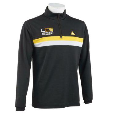 ルコック Le coq sportif メンズ ライン配色 ロゴ刺繍 長袖 ハーフジップシャツ QGMOJB07 2019年モデル ブラック(BK00)