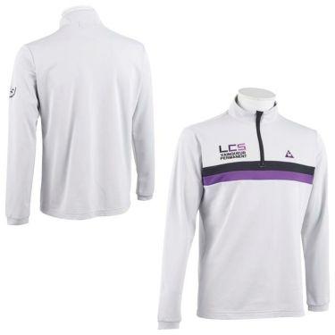 ルコック Le coq sportif メンズ ライン配色 ロゴ刺繍 長袖 ハーフジップシャツ QGMOJB07 2019年モデル 詳細3