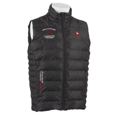 ルコック Le coq sportif メンズ 中綿 ハイネック フルジップ ベスト QGMOJK53 2019年モデル ブラック(BK00)