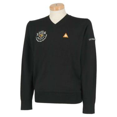 ルコック Le coq sportif メンズ ロゴ刺繍 長袖 Vネック セーター QGMOJL11 2019年モデル ブラック(BK00)