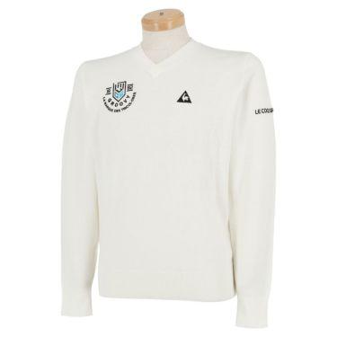 ルコック Le coq sportif メンズ ロゴ刺繍 長袖 Vネック セーター QGMOJL11 2019年モデル グレー(GY00)