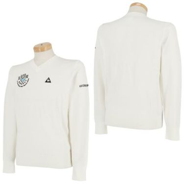 ルコック Le coq sportif メンズ ロゴ刺繍 長袖 Vネック セーター QGMOJL11 2019年モデル 詳細3