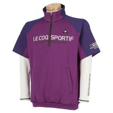 ルコック Le coq sportif メンズ 3WAY 半袖 ハーフジップシャツ & 長袖 ハイネック インナーシャツ QGMOJL53W 2019年モデル パープル(PP00)