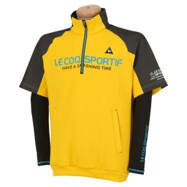 ルコック Le coq sportif メンズ 3WAY 半袖 ハーフジップシャツ & 長袖 ハイネック インナーシャツ QGMOJL53W 2019年モデル イエロー(YL00)